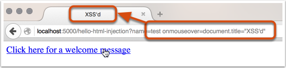 HTML Attribute Injection Execution